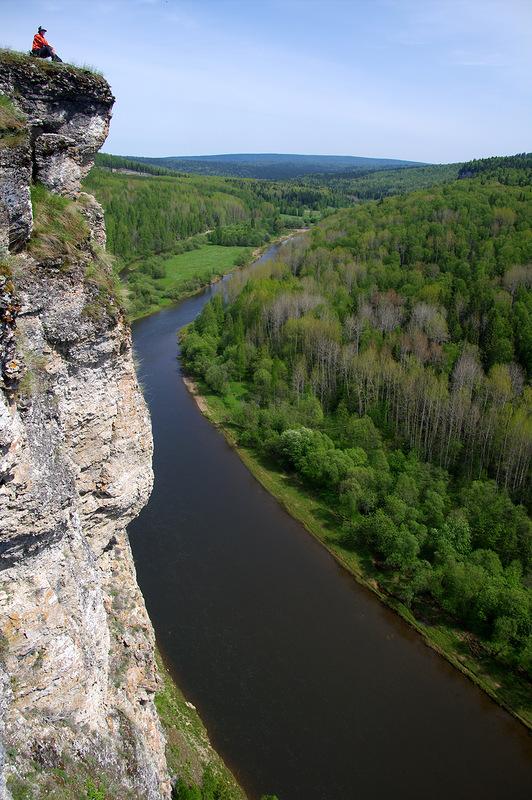 На камне Стрельный, река Усьва, Пермский край
